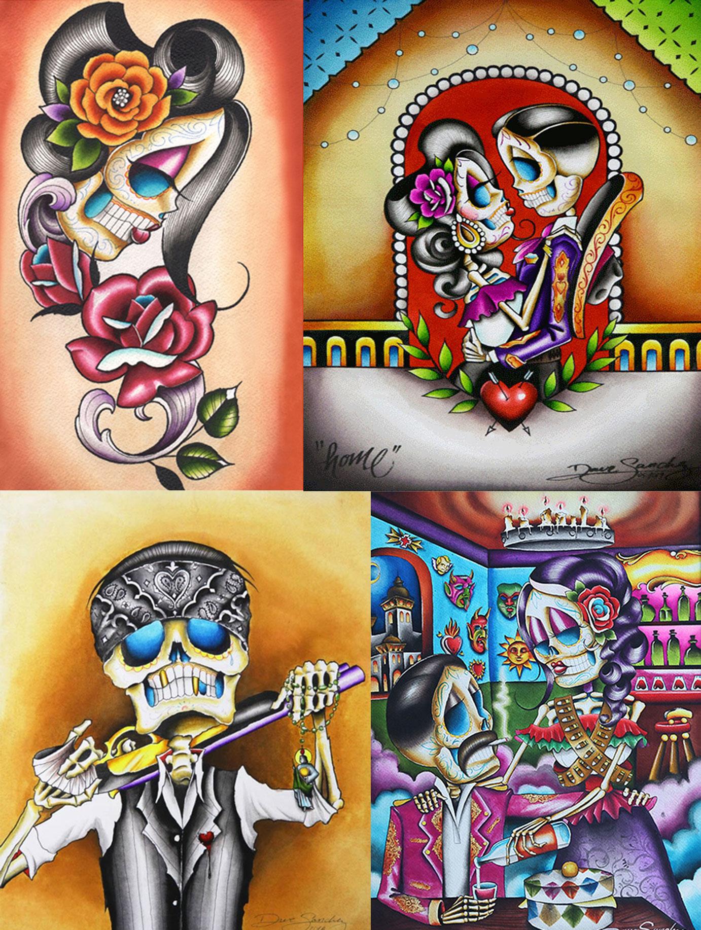 Tattoo Artist Dave Sanchez Best Known For His Dia De Los
